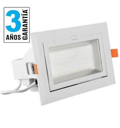 Downlight Rectangular LED, 40w, 4.000 lúmenes, Chips SMD Samsung